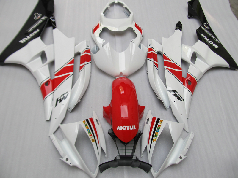 Injection molding hot sale fairing kit for Yamaha YZF R6 06 07 white red black fairings set YZFR6 2006 2007 TR16