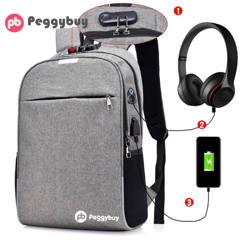 Usb Charging Laptop Backpack Men Women Canvas Anti-thief Business Backpack College Schoolbags For Teenagers Boys Travel Rucksack