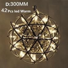Modern Loft spark ball LED Pendant Light Firework Ball stainless steel pendant Lamps Silve Hanging Lamps Ball lighting AC110-240