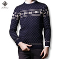 2016 New Men Knitted Sweaters Pullovers Knitwear Men's Casual Fashion Slim Fit Large Size Long Sleeved O Neck Sweaters Male Coat