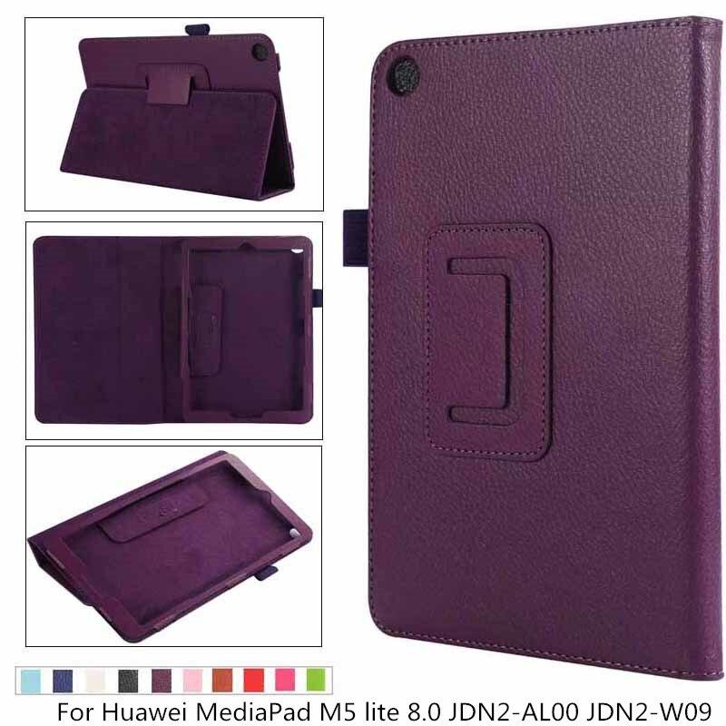 New Litchi Leather Ultra Slim Magnetic Flip Stand Cover Case For Huawei MediaPad M5 Lite 8.0 JDN2-AL00 JDN2-W09 Tablet Case