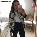 2017 Autumn Zipper Patchwork Camouflage Women Jacket Stand Casual Bomber Coat Basic Clothing Slim Women Outwear Mujer