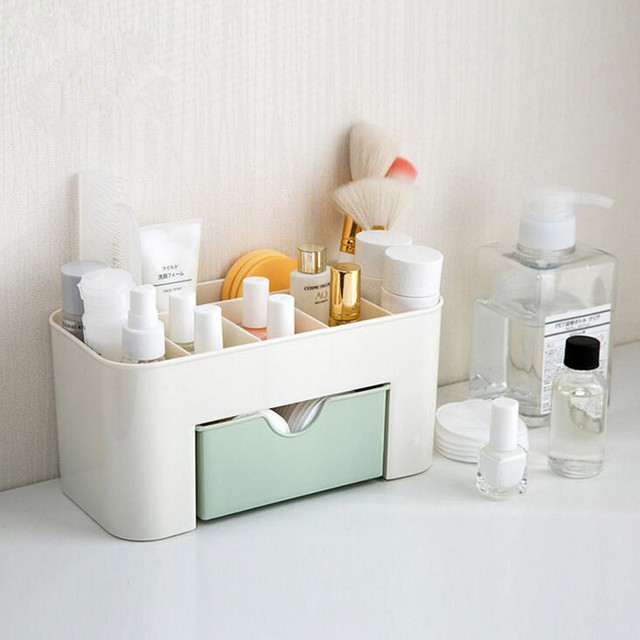 ZIDUKE Pure Color Plastic Tabletop Cosmetic Box With Small Drawers And Boxes  Of Multi Function