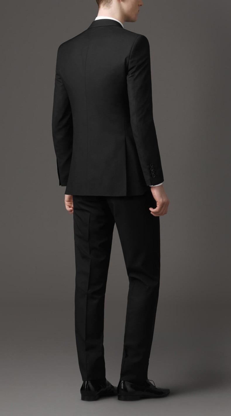(Ceket + Pantolon) erkek Siyah Iş Elbisesi Iş Resmi Takım Elbise - Erkek Giyim - Fotoğraf 3