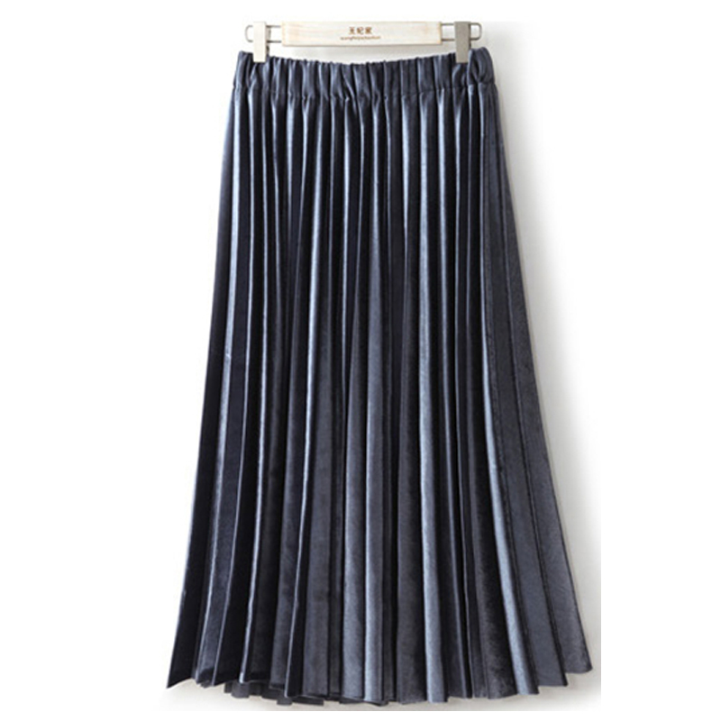 Aliexpress.com : Buy 2017 Vintage Casual Long Skirt Fashion Metal ...