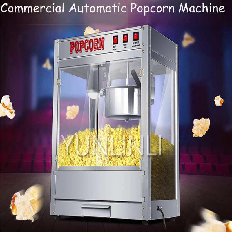 Commercial Automatic Popcorn Machine Electric Popcorn Maker Spheroidal & Flower Type Popcorn Machine ZA-08 commercial automatic caramel making popcorn machine price with wheels