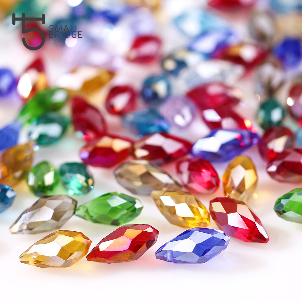 Jewelry & Access. ...  ... 32800639390 ... 2 ... Austria Multicolor Glass Teardrop Beads For Jewelry Making Necklace Diy Accessories Faceted Crystal Briolette Beads Wholesale ...