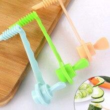 Кухонный гаджет для фруктов, овощей, гранат, спиральный слайсер для готовки, направляющая для резки овощей, узор резные цветы, инструменты JY