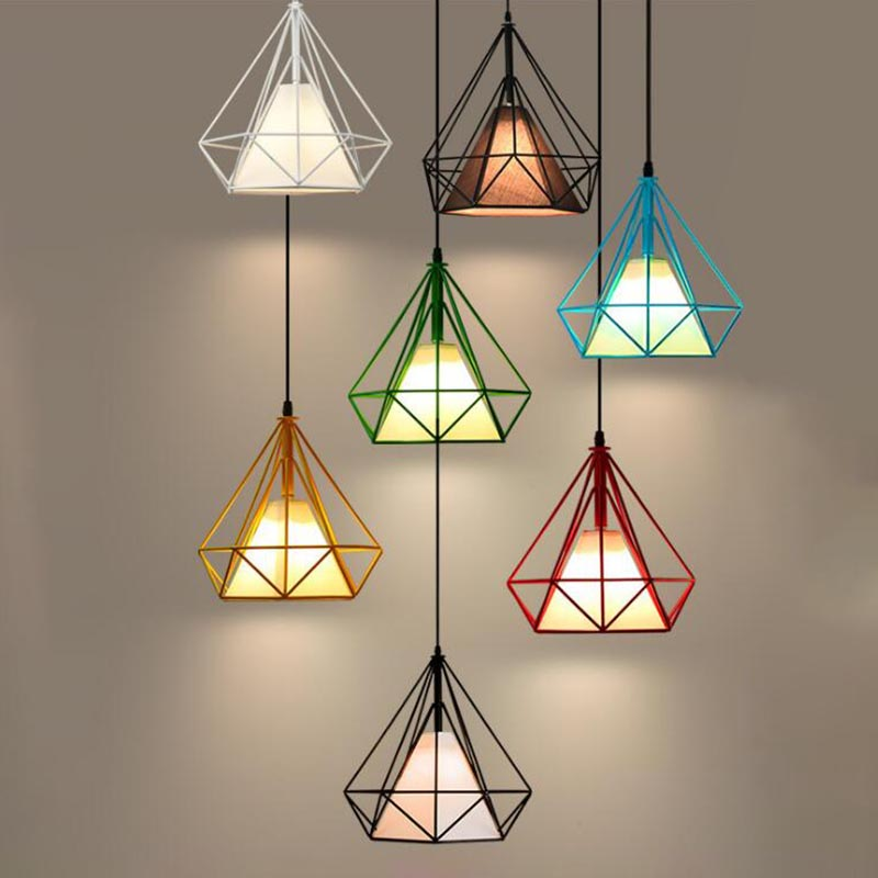 Modern fashion simple led pendant light lamp  hanging room lamp for dining room with free led light bulb 3w 5W nordic wrought iron simple modern pendant lamp with led bulb dinning room light cafe lamp e27 110v 220v free shipping