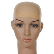 Hair Mesh Wig Cap Hair Nets Wig Liner Hairnet Snood Glueless Dome Wig Cap 2Pcs Stretchable Elastic Hair Net(China)