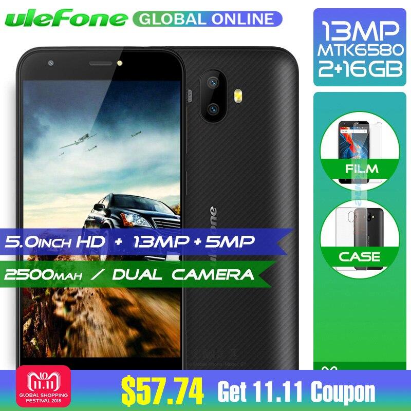 Оригинал Ulefone S7 Pro 2 ГБ Оперативная память 16 ГБ Встроенная память 3G WCDMA MTK6580 4 ядра 5,0 HD 13MP двойная задняя Cam gps мобильный телефон Android 7,0