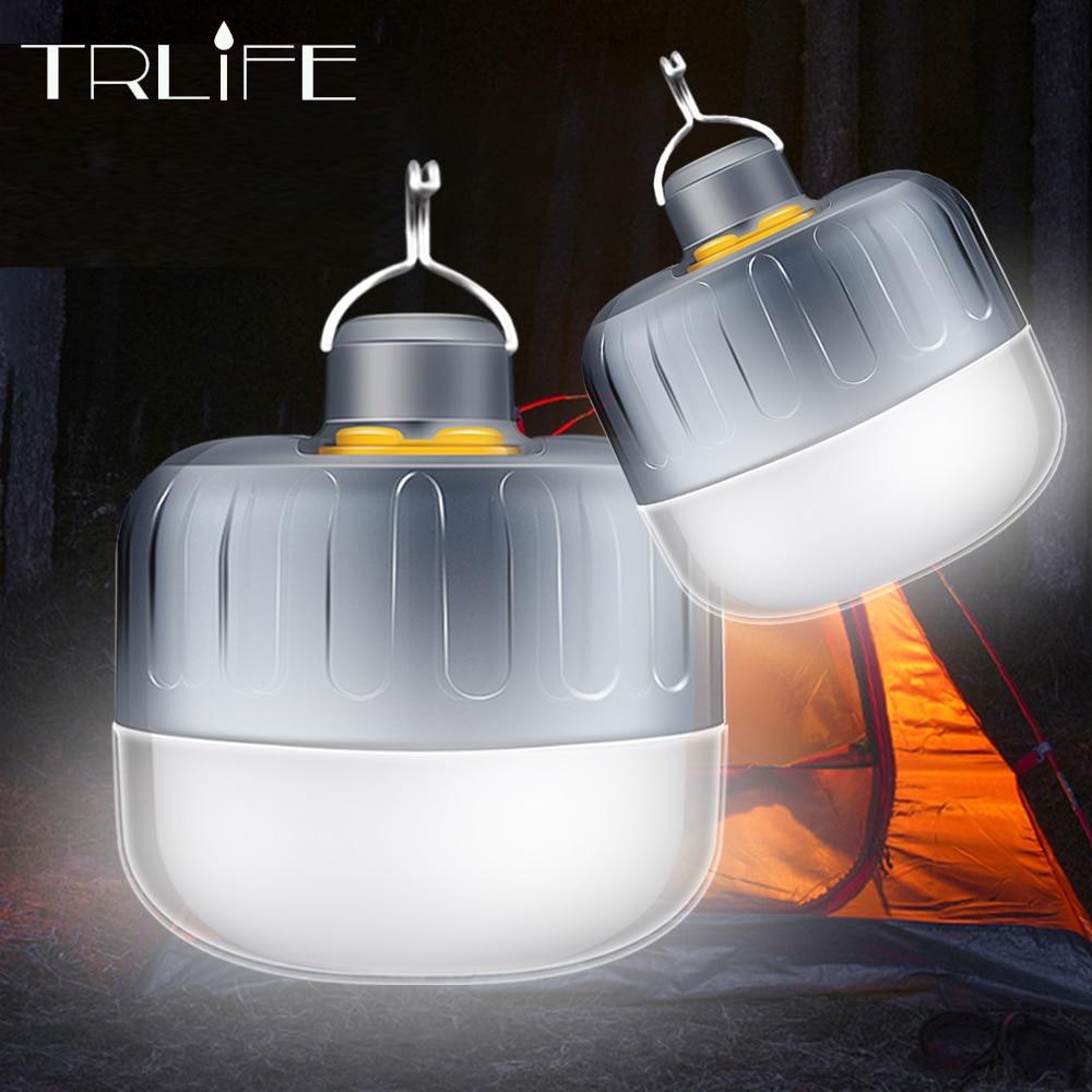 7200mAh Portable Lantern Camping Lamp Tent Light Emergency Reading Repairing Lamps Waterproof Hang Magnet Flashlight DC Interfac