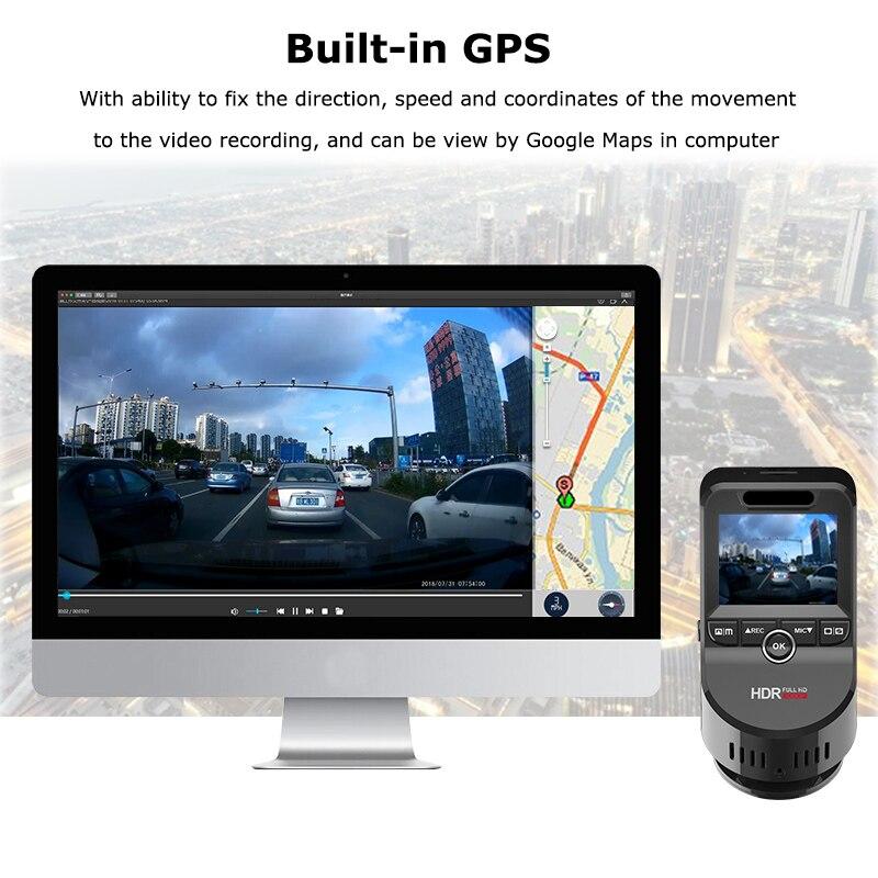 Carro traço cam 2160 p 4 k ultra hd com 1080 p câmera traseira wifi gps logger adas dupla lente dashcam carro dvr visão noturna + 32g cartão sd - 3