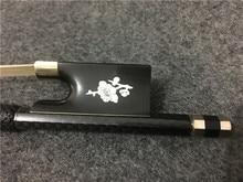 1PCS High quality colorful winding violin bow. The plum blossom mosaic Ebony tail base. Carbon fiber violin bow #XG2604