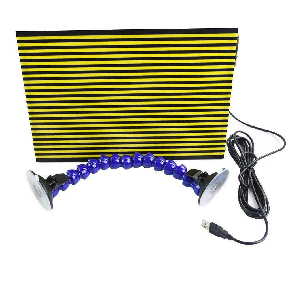 Furuix 1 pz PDR Striscia di Bordo Linea di Bordo Riflettente per Dent di Rilevamento Grandine Danni di Riparazione con Ajustment Holder (LED)