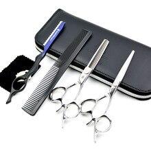 JAPAN 6″ Professional Hair Cutting Scissors kit Barber Shears 440C stainless steel hair clipper haircut kit hairdresser scisors