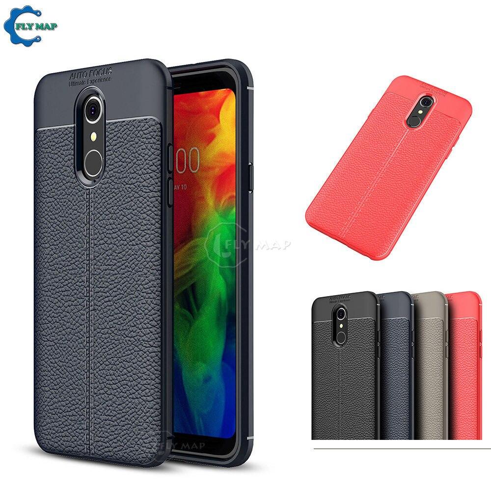 Fitted Case for LG Q7 Q 7 Q610YB LM-Q610YB PU Silicone Mobile
