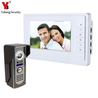 Yobang Security 7 Wired Video Door Phone System Unit Doorbell Intercom System Interphone Doorphone Home Video