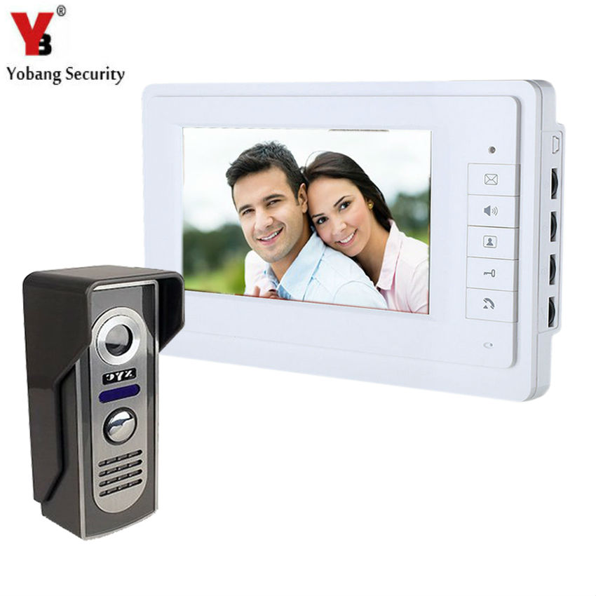 Yobang Security 7 Wired Video Door Phone System Unit Doorbell Intercom System Interphone Doorphone Home Video Intercom