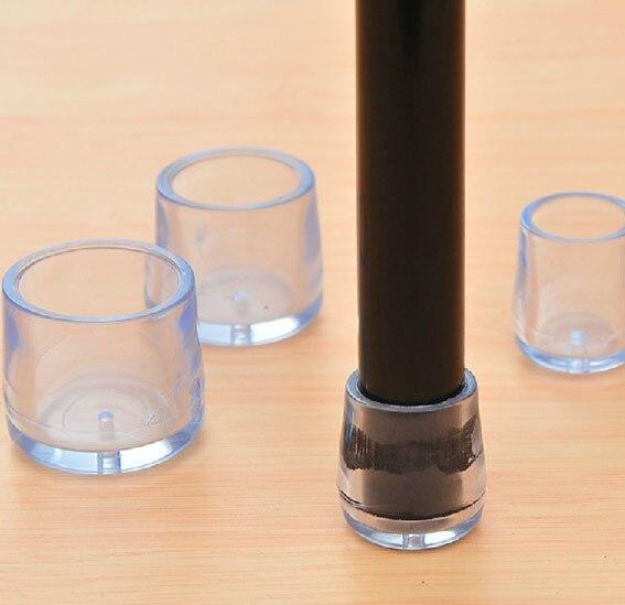 15mm Transparent Chair Feet Leg Cap Cover Pad Pvc Clear