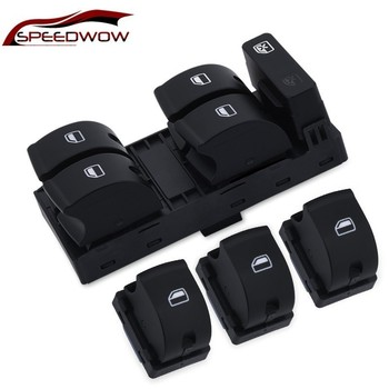 SPEEDWOW Electric Master Window Mirror Switch Button For AUDI A4 S4 B6 2003- B7 SEAT Exeo 8E0959851 8E0959855 for 2002 2008year audi a4 b6 b7 left front door drivers master electric power window lifter regulator control switch accessories