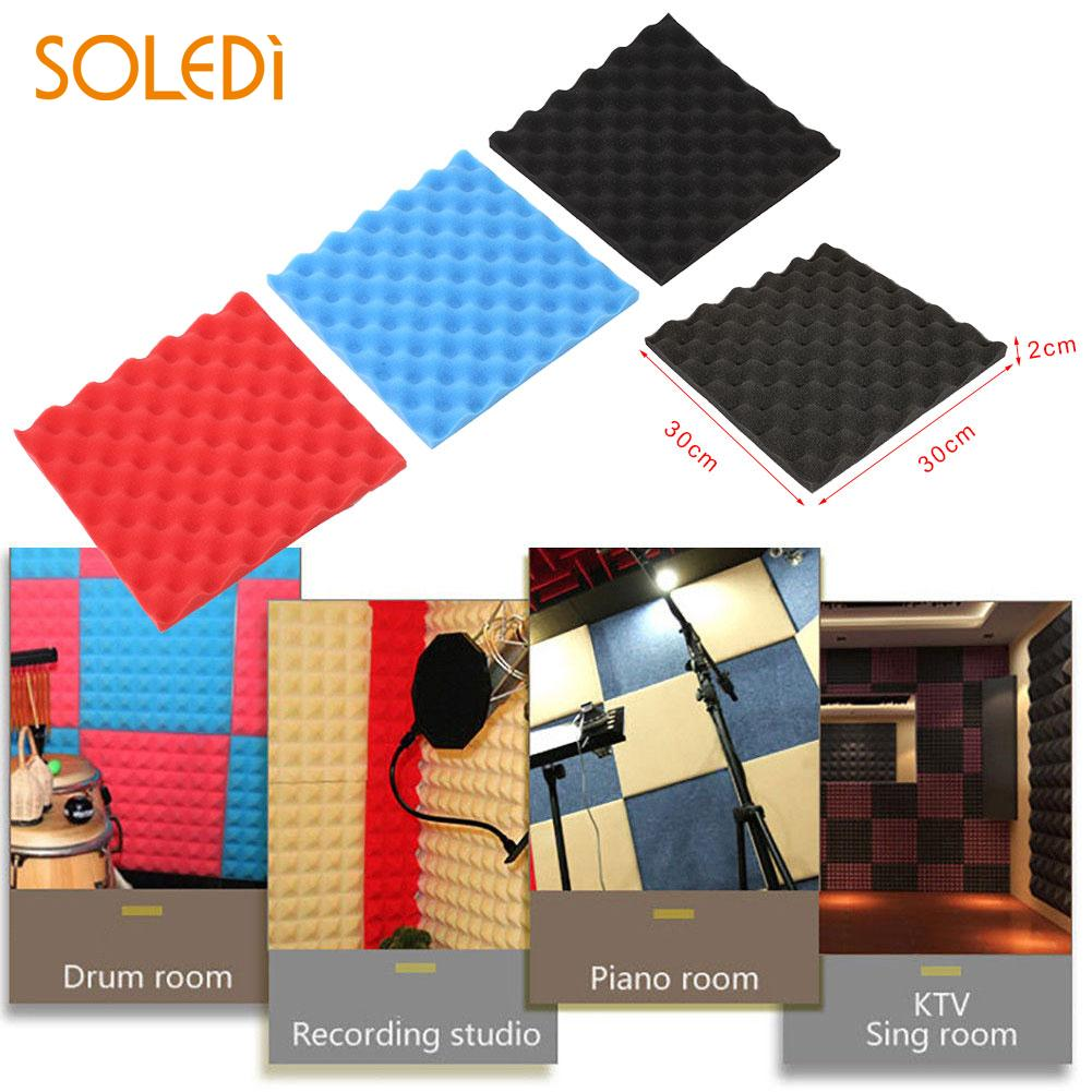 Sound Absorption Tiles Foam Sticker Soundproof Egg Shaped Black Red Blue KTV Office Studio Classroom