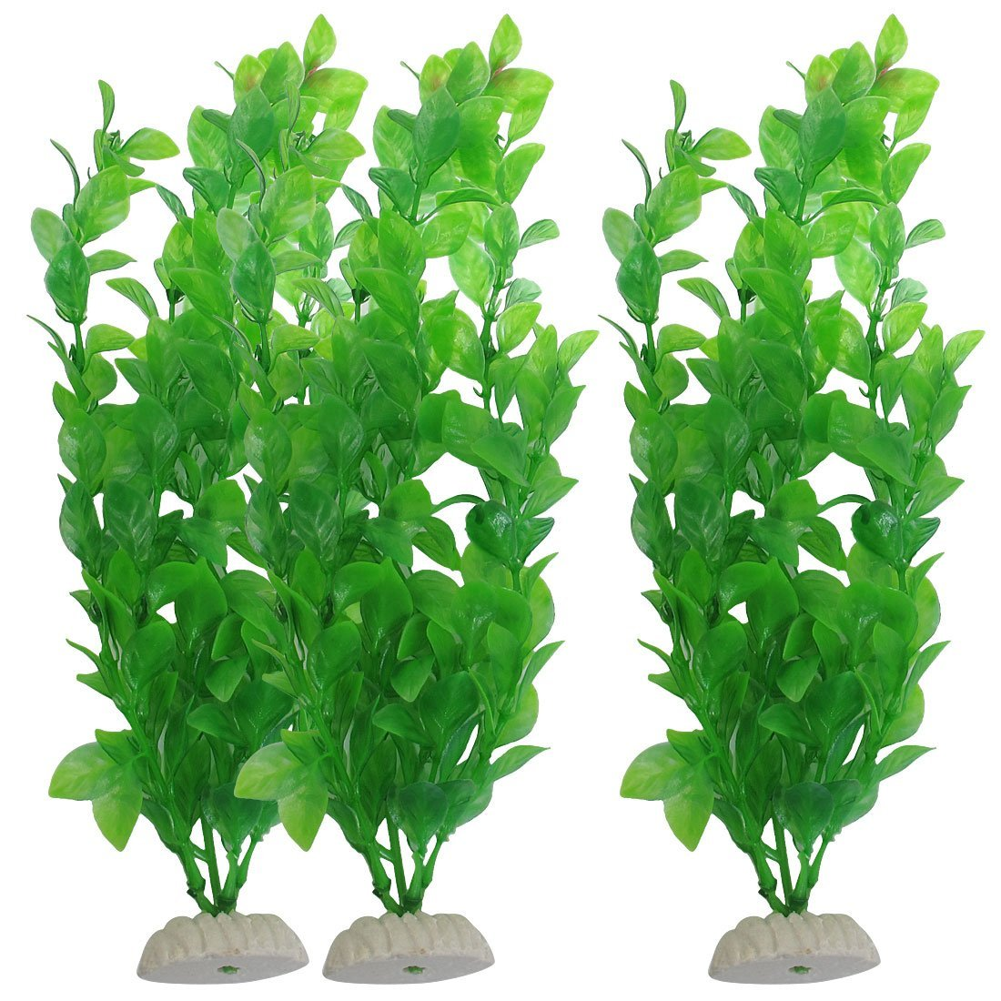 "3 pcs 10.6"" height green plastic artificial water plants for"
