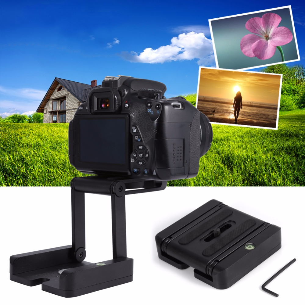 Foldable Flex Z Tripod Bracket Aluminium Head Quick Release Plate Ball Head Stabilizer For Camera Tripod