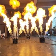 3 струи пожарная машина с тройным пламенем проектор с безопасной Каналы Dmx струи пламени горелки для празднования Dj Свадебная вечеринка свет для сцены парти диско эффекты