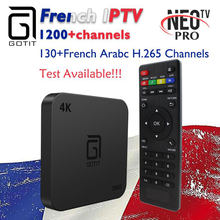 Французский бельгийский IP tv GOTiT S905 4K Smart Android tv box 1000 + NEO tv Португалия IP tv Арабский Tunis Morocco Германия Италия Pay tv & VOD(China)