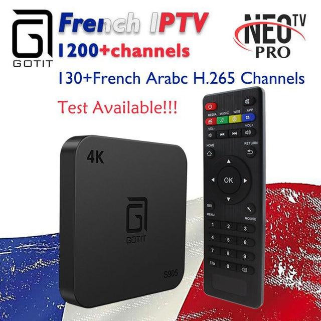 US $53 69 9% OFF French Belgium IPTV GOTiT S905 4K Smart Android TV box  1000+NEOTV Portugal IPTV Arabic Tunisia Morocco Germany Italy PayTV &  VOD-in