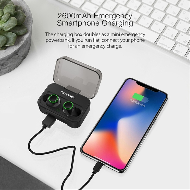 Blitzwolf BW-FYE3 bluetooth 5.0 Earphone IPX6 Waterproof with Mic 2