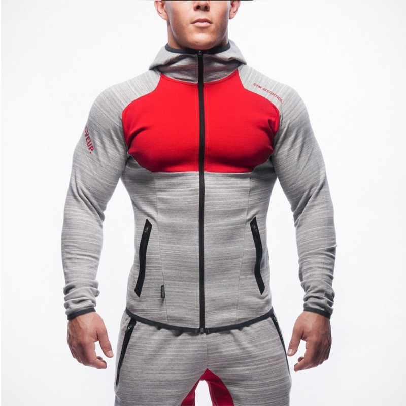 2019 New Spring Men Sets Lined Sweatshirt + Pants Male Tracksuit Warm Sporting Suits Men's Sportswear 2 Piece Suit