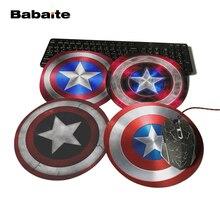 Babaite личности Капитан Америка Дизайн Живопись круглый коврик для мыши супер герой серии ноутбук игровой Оптический коврик для мышки