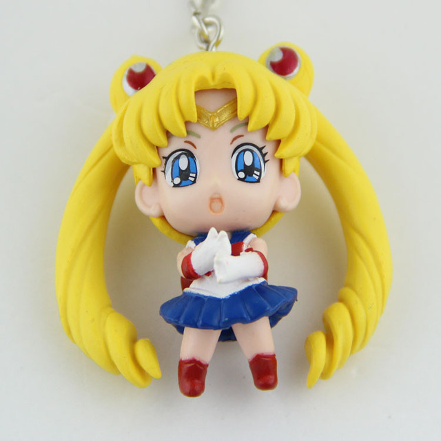 Sailor Moon Anime Action Figures 6pcs/set Keychains Toys