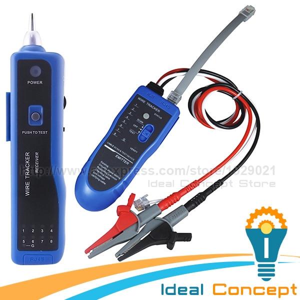 Wire Tracker Telephone LAN Cable RJ45 RJ11 Open Short Circuit Testing LED Light