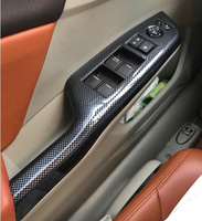 High Quality ABS Car Door Internal Armrest Decoration Scuff Plate Window Switch Protection Cover For Honda
