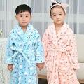 Детские Рождественские пижамы халаты халат Детей для мальчиков девочек nightweare Зимний Хлопок Домашней одежды Мультфильм пижамы