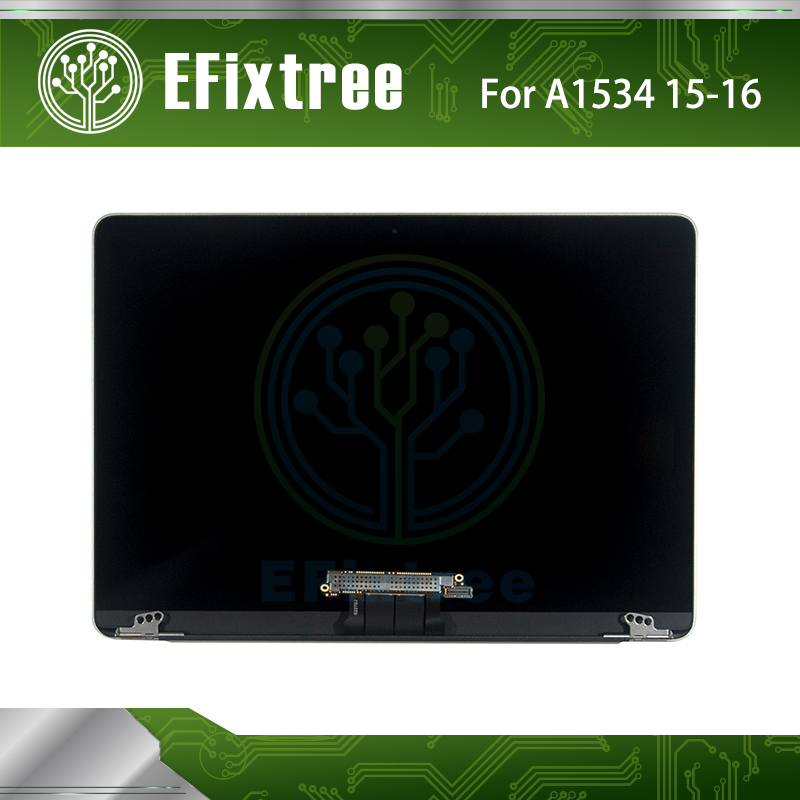 New A1534 LCD Assembly Grey Gray For Macbook Retina 12 A1534 LED LCD Screen Display MF855 MF865 MLHA2 MLHC2 EMC 2746 2991 3099 цена