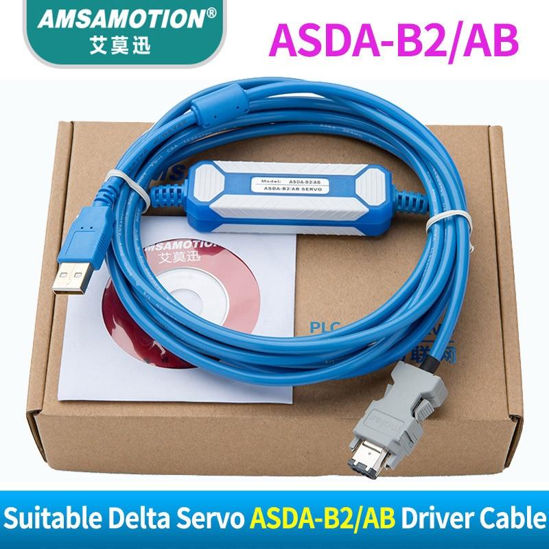 Suitable Delta ASDA-B2 AB A2 Servo Driver CN3 Connect PC Communication Cable communication cable for servo drive mr cpcatcbl3m cable mr j2s a