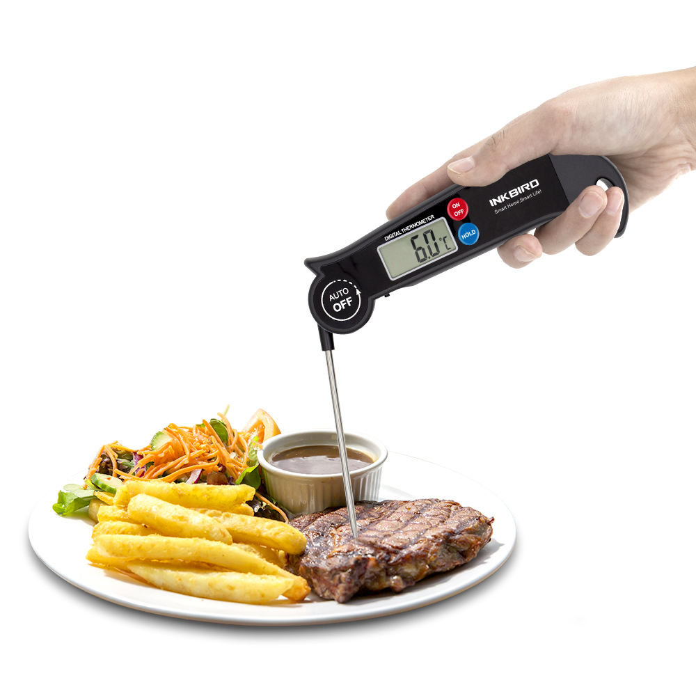Inkbird Digital Instant Read Food Cooking Kitchen BBQ Thermometer HET-F001 Including AAA Battery For Oven Meat, Smoker,Grill stainless steel meat smoker electric smoker food smoker smokehouse 220 240v vertical bbq oven