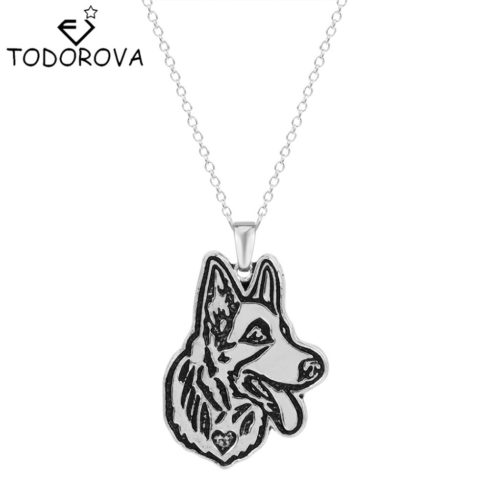 Todorova Steampunk Retriever Greyhound German Shepherd Dog Memorial Pendant Necklace Gift for Women Jewelry Vintage Accessories