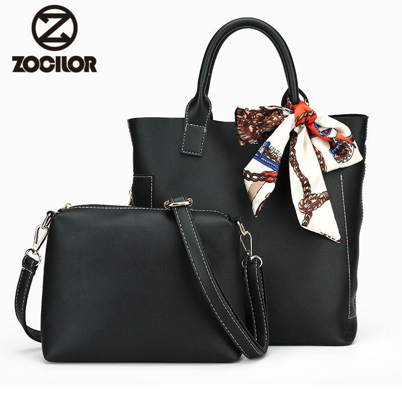 Women Handbag Leather Women Shoulder Bags 2 sets Famous Brand Designer Women Messenger Bags Ladies Casual Tote Bags sac a main 2017 new famous designer brand bags women cattle split leather ladies fashion handbag gray tote bags hasp shoulder bags hd651118