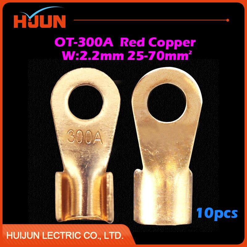 10pcs/lot OT 400A 13.2mm Dia Red Copper Circular Splice