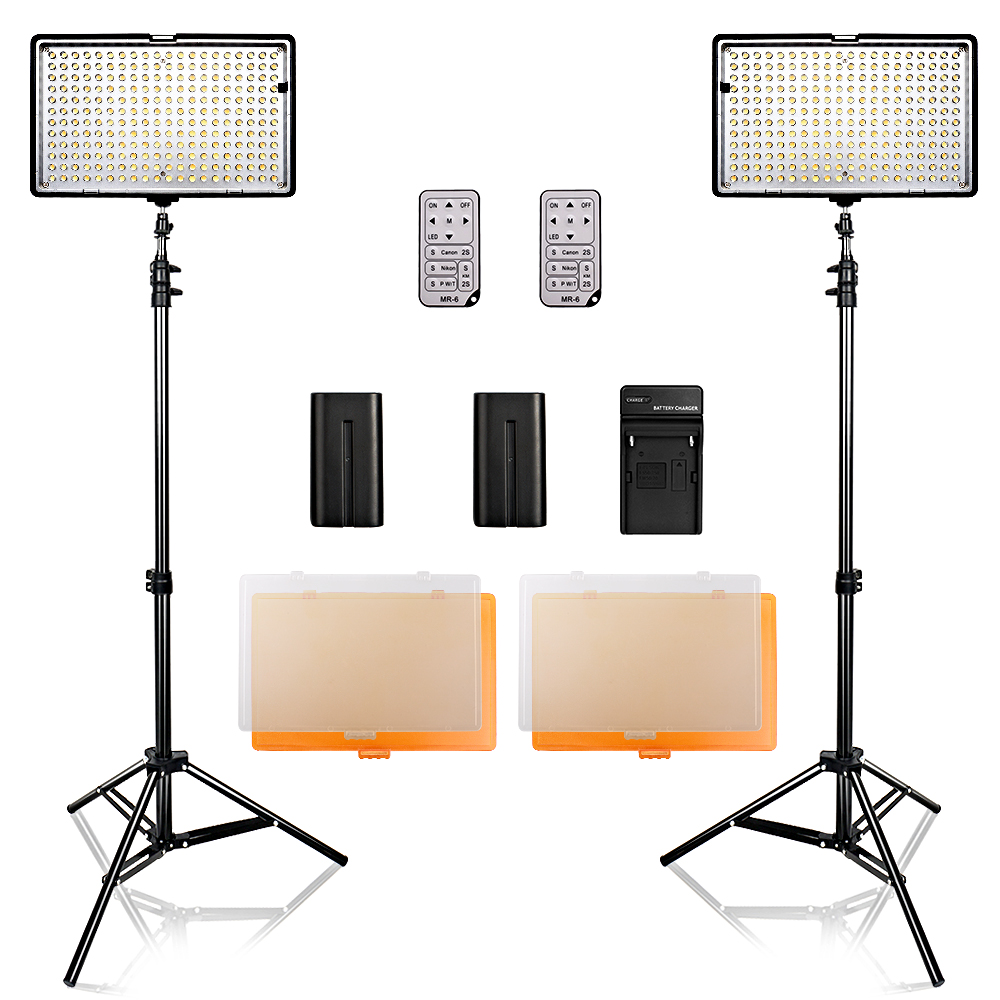 2 in 1 Photography 240 LED Studio Lighting Kit Dimmable Ultra High Power Panel Digital Camera DSLR Camcorder with light stand neewer cn 304 304pcs led dimmable ultra high power panel digital camera camcorder video light led light for canon nikon pentax