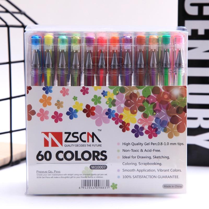60 100 Colors Drawing Gel Pen Set Sketch Fineliner Color Pen