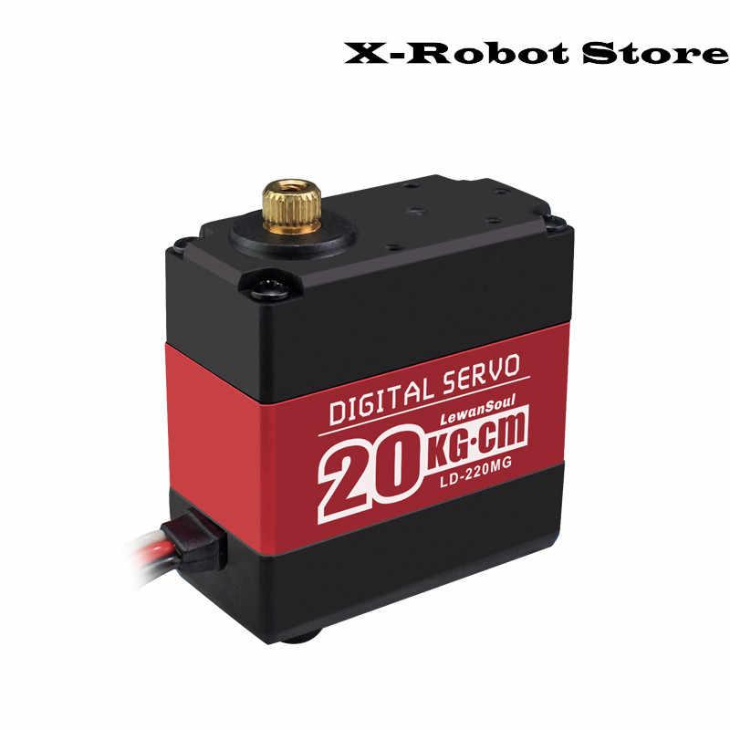 DIY LD-220MG ロボット機械式デジタルサーボ 20 キロ 180 度マイクロサーボ 20 キロ。センチメートル 6.6 12V 高トルク金属ギアデジタル servoR 部分
