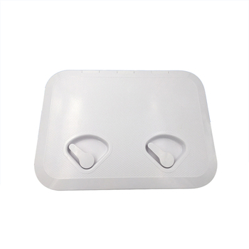 White ABS Marine rectangle deck cover hand hole boat porthole cover storage box cover for RV Boat Yatch 315*440MM