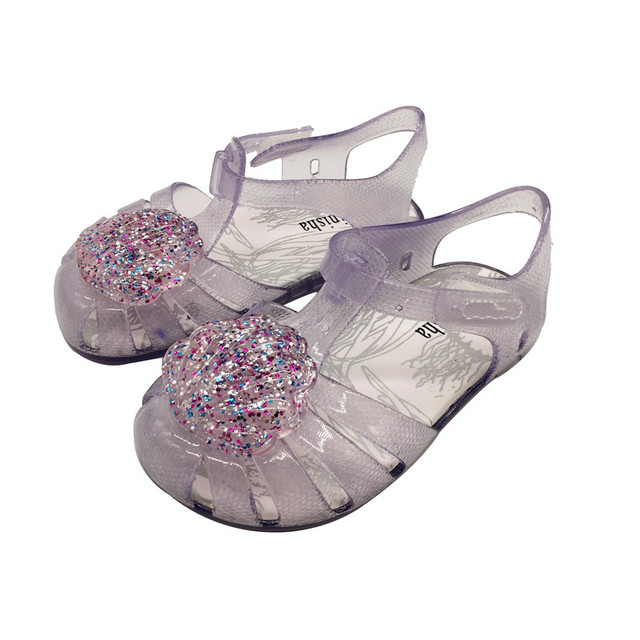 912f3889d9d6 Mini Melissa Flash Shell Cute Girls Jelly Sandals 2019 New Melissa Children  Shoes Baby Sandals Breathable