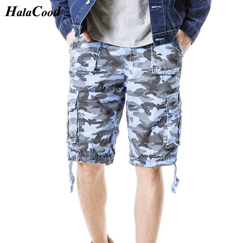 Fashion Plus Size Mens Military Cargo Shorts Summer Army Green Cotton Shorts Men Loose Multi-Pocket Shorts Homme Casual Trouser